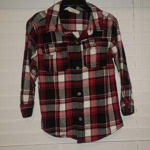 Boys Flannel Long Sleeve Button Down Shirt